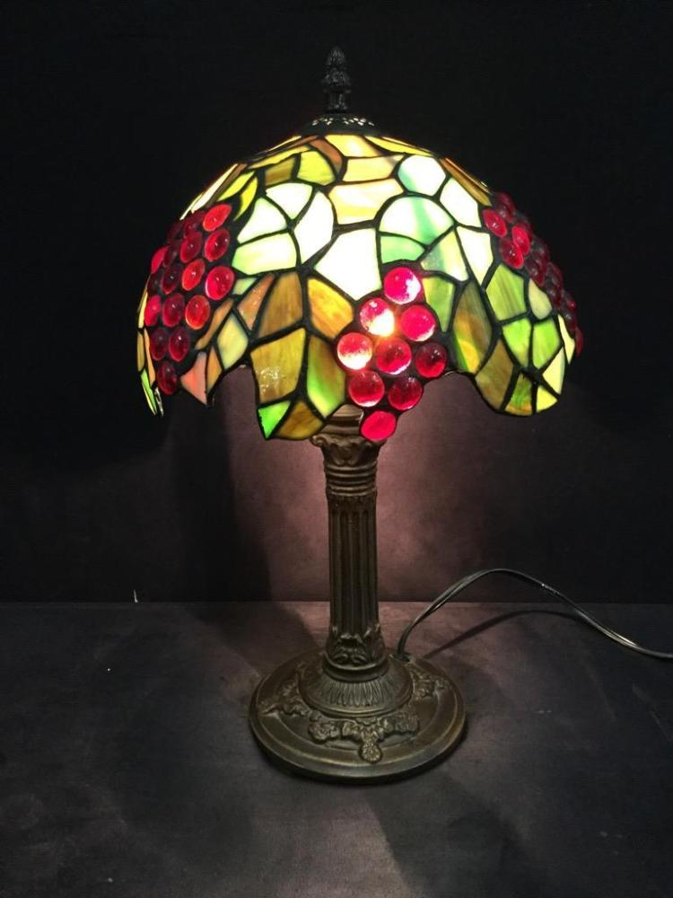 Lovely Tiffany style stained glass/composite glass lamp