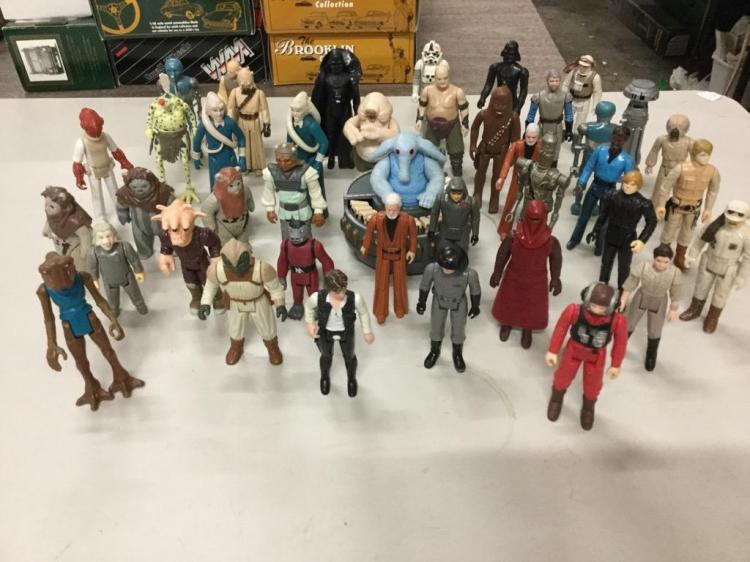 45 Vintage Star Wars Small Toy Figurines