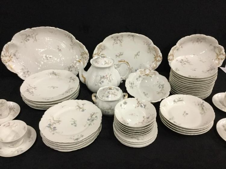 Stunning 51 piece Antique Haviland France hand painted china and Tea Set wow