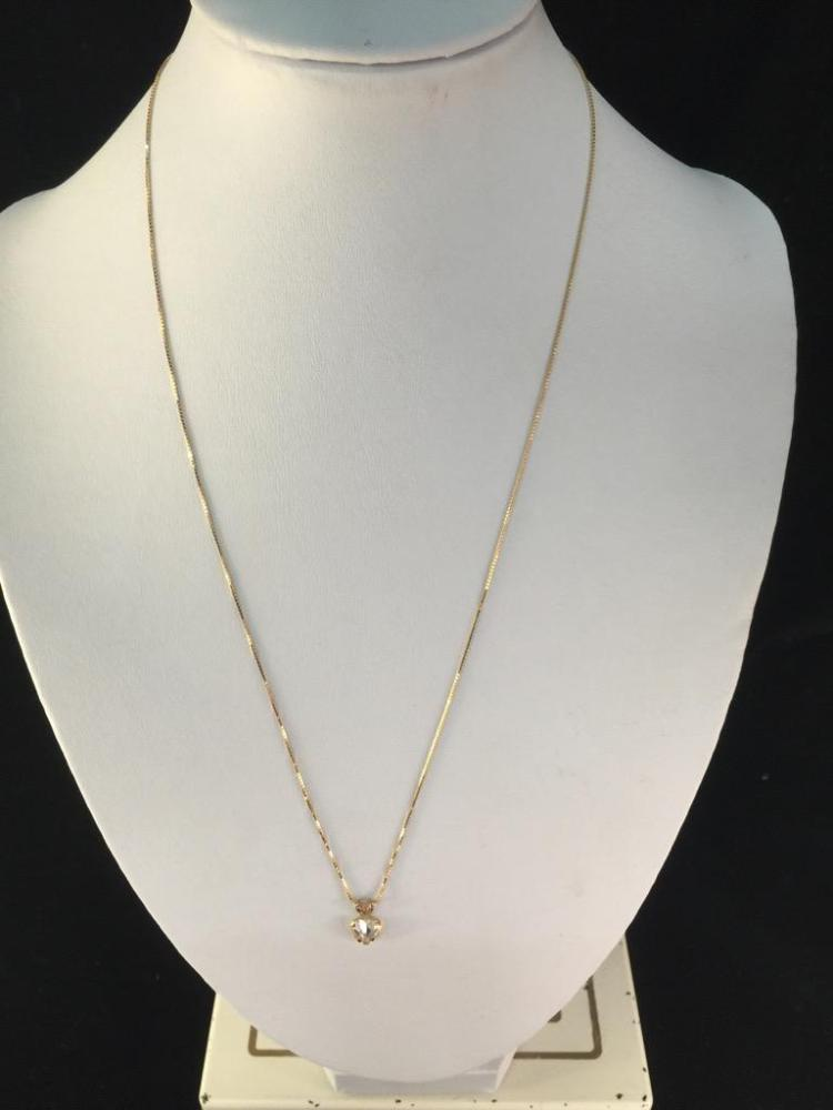Lovely 14k yellow gold chain with cute pendant - 18