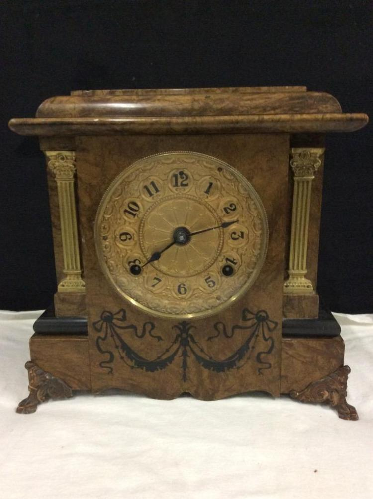 Antique Seth Thomas Adamantine late 1800's no.102 Mantle Clock in good cond needs servicing