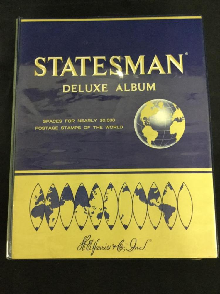 Statesman Deluxe Stamp Album just loaded w/ stamps - holy cow