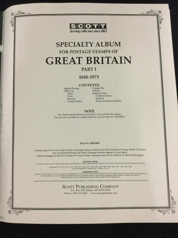 Stamp collectors specialty book of Great Britian loaded with stamps