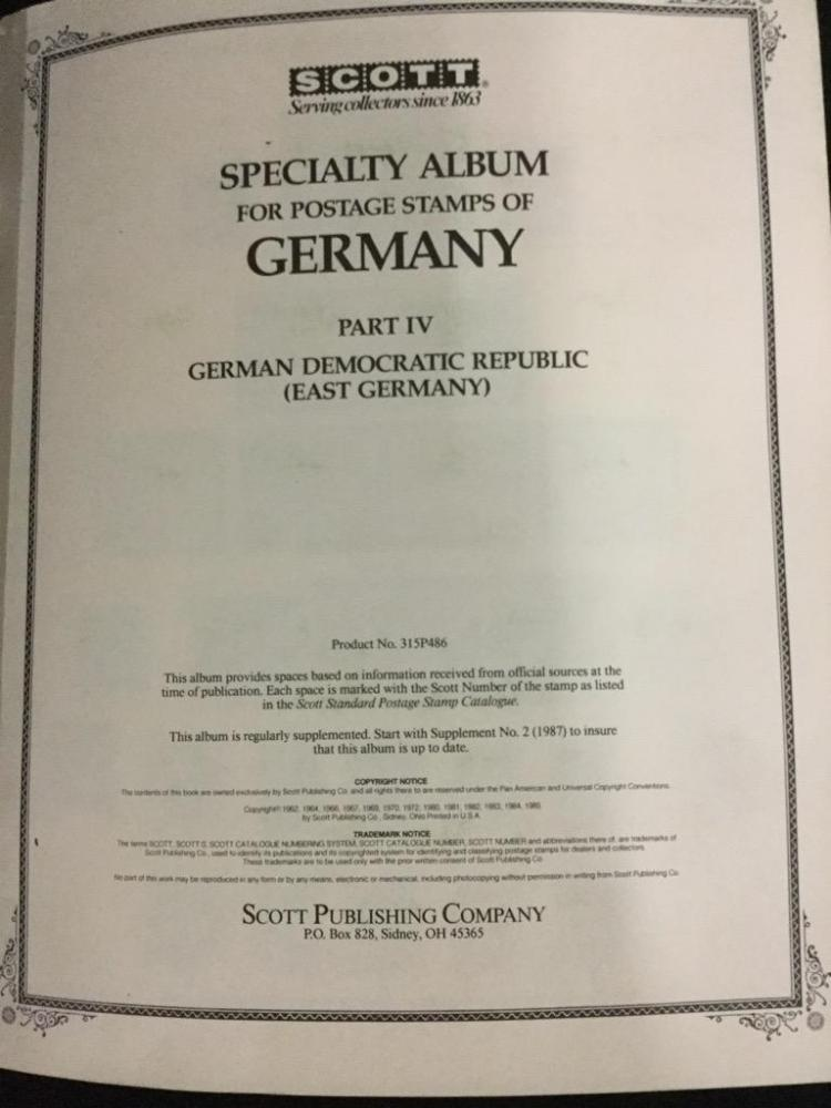 A stamp collecting specialty book of Germany. 1949-1984. See pics