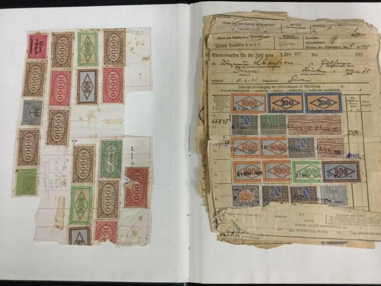 An amazing collection book of very old German stamps. See pics
