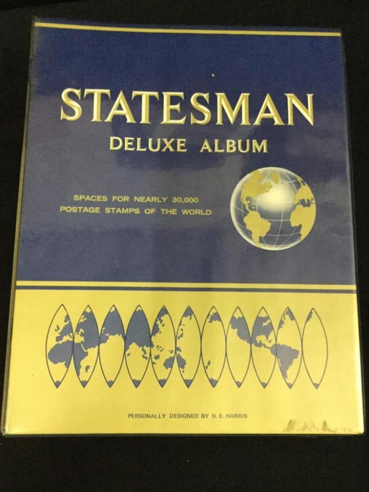 The Statesman deluxe stamp collecting album