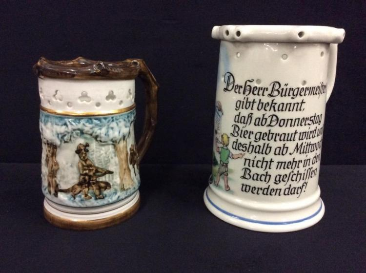 Set of two decorative steins - Bavaria/West Germany TK & Czechoslovakian