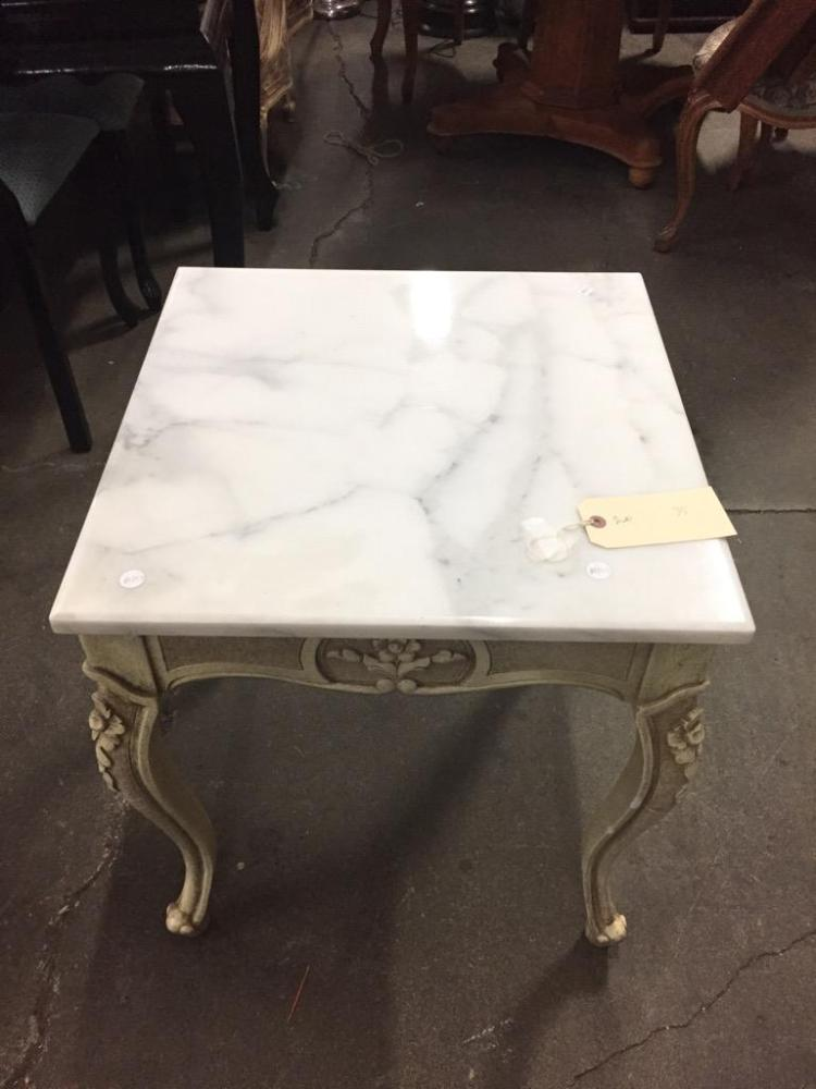 Marble Top Victorian look end table