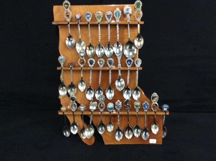 Collector Spoon collection in Louisiana State Display
