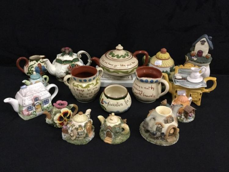 Huge Set of miniature teapots and teapot collectibles