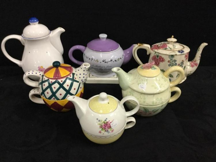 Selection of modern teapots - cute collection