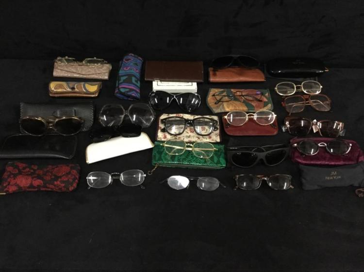 Selection of Vintage prescription glasses - some good names
