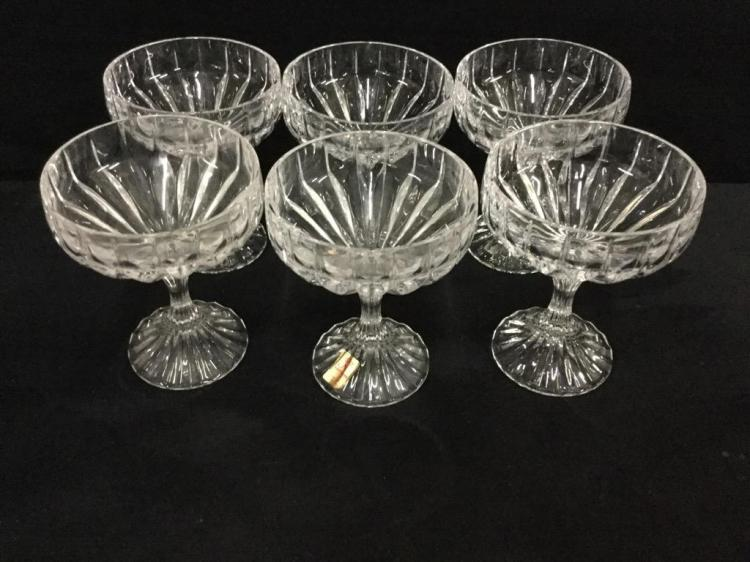 Set of 6 nice Nachtmann Crystal up Cocktail glasses