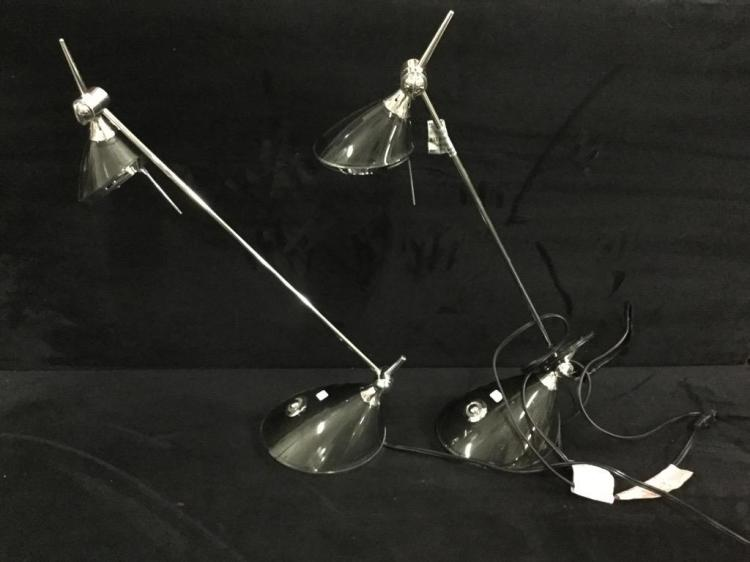 Set of two modern desk lamps