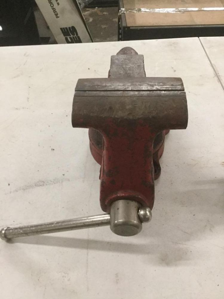 Large Craftsman Bench Vise And A Smaller Bench Vise