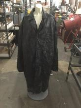 Navarre Leather Company Genuine Leather Size XXXL Biker's trenchcoat