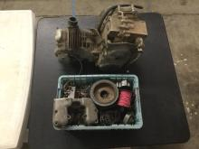 Honda 248cc engine + misc parts, used, as is