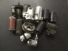 approx. 12 used starter motors for rebuild, different makes