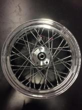 new chrome front motorcycle rim, see pics for numbers