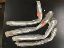set of 4 chrome straight drag exhaust pipes