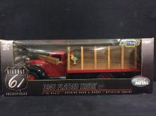 Highway 61, 1941 Chevy flatbed truck, NIB 1:16 scale.