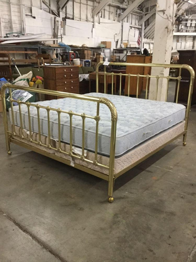 High end king size brass bed custom made in victoria bc for High end king size bed