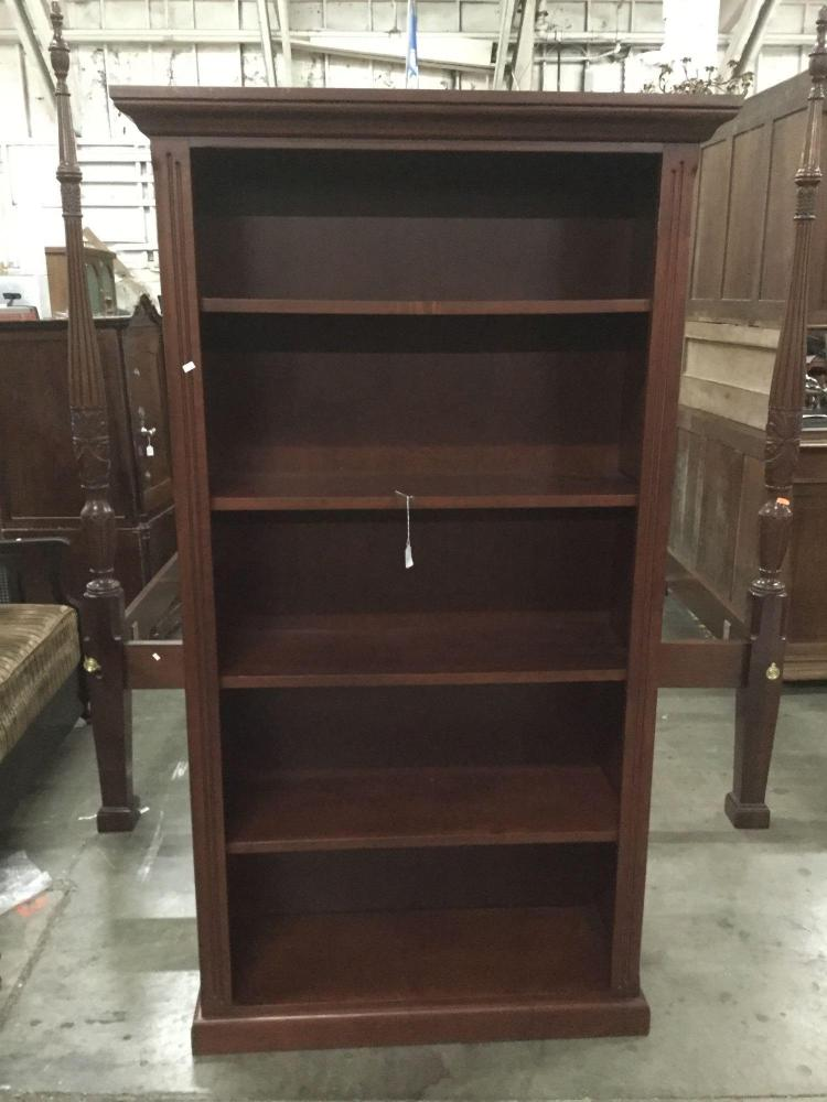 Creative ideas furniture quality dark stain 5 tier bookcase for Furniture auctions uk