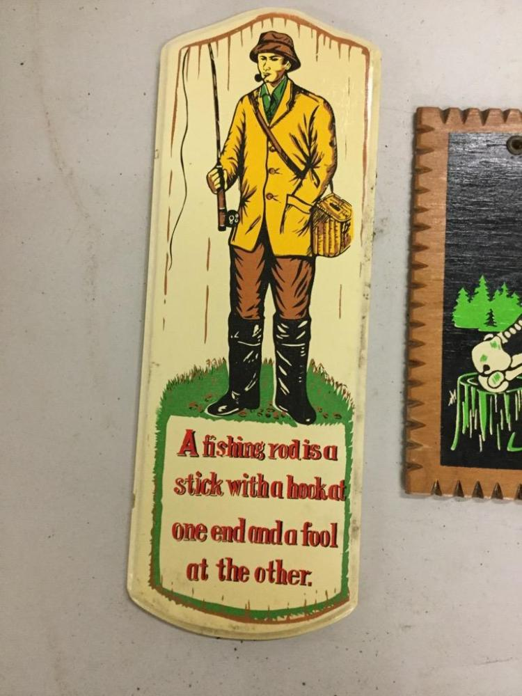 3 humorous vintage fishing signs for Vintage fishing signs