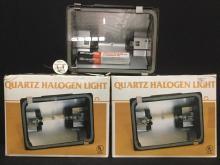 2 brand new quartz halogen shop lights.