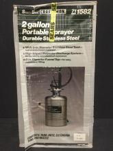 a brand new Craftsman stainless steel 2 gallon portable pump sprayer