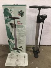 A Joe Blow heavy duty bicycle pump w/ gauge, brand new