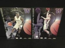 Set of two promotional UW Huskies 05-06 Mens Basketball Team photos - jensen & jones