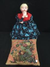a vintage hand made Tolra gypsy doll