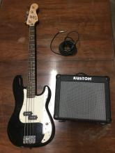 Fender P-Bass with a Kustom