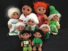 Troll dolls - 2 Large, 3 Medium and 4 Medium to small;