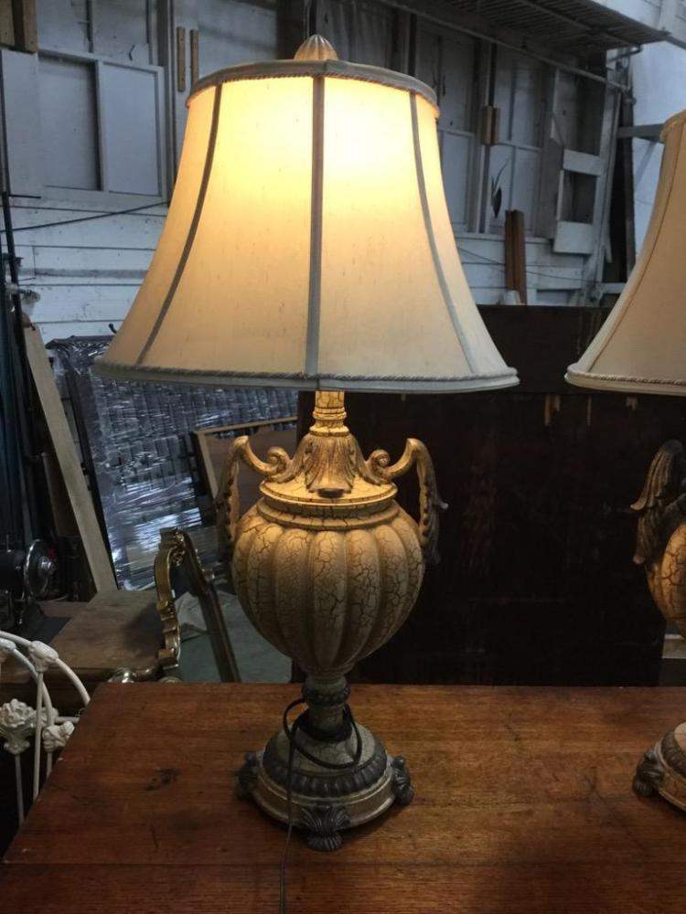 2 vintage ornate living room lamps both in working conditio
