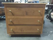 Smaller vintage 3 drawer dresser w maple ? Solid wood