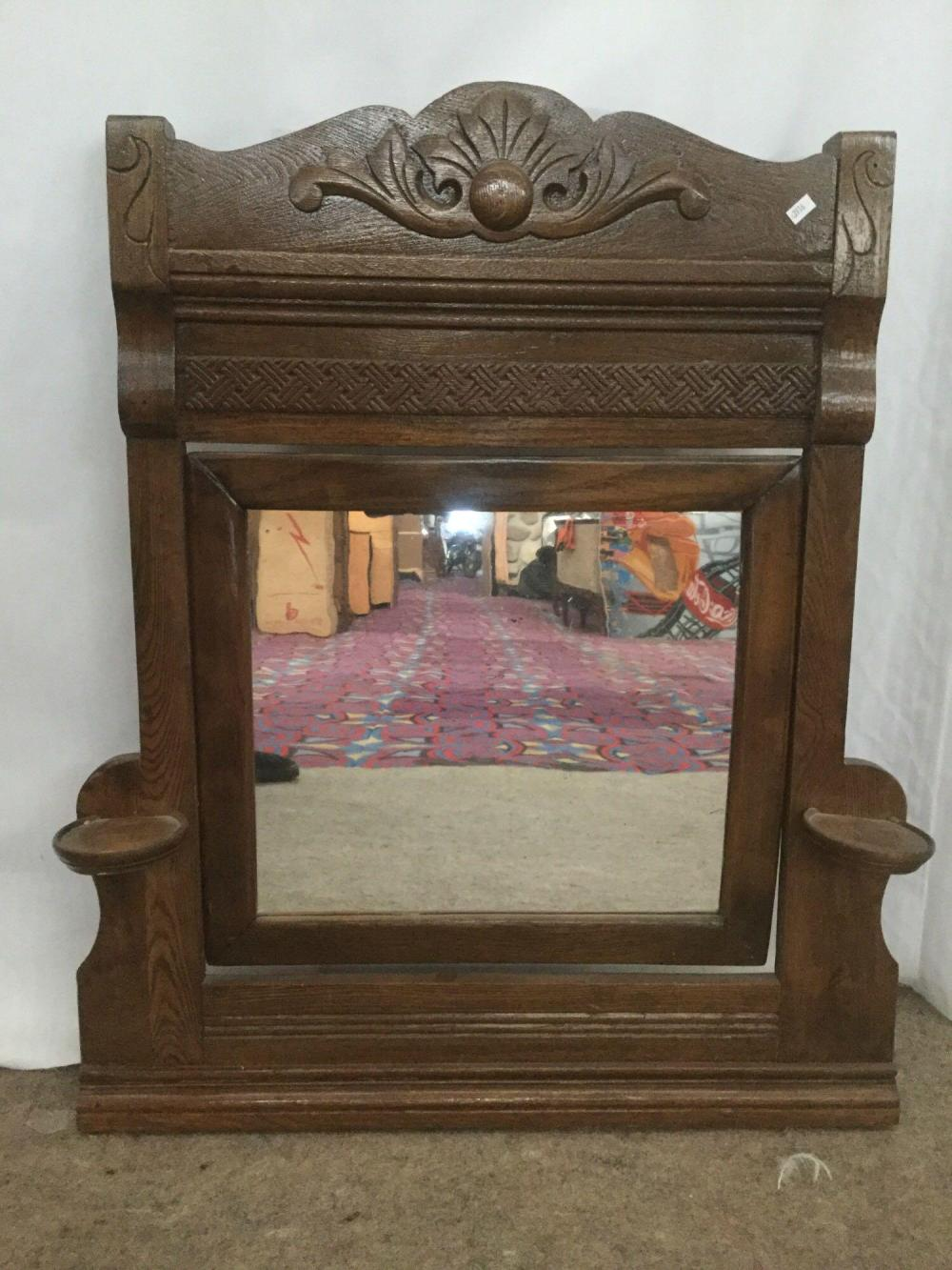 Sold Price Small Antique Dresser Top Vanity Mirror With Candle Shelves Carved Molding October 6 0119 12 00 Pm Pdt