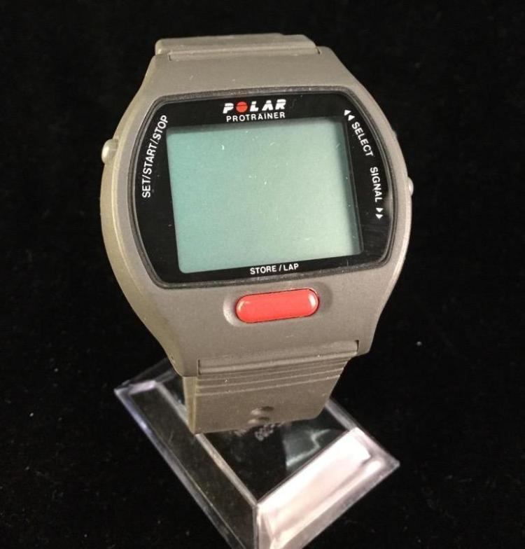 A Polar protrainer digital wrist watch, needs battery