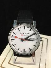 a Swiss made, Mondaine wrist watch, like new, needs battery