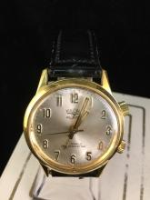a Vulcain Alarm 17 jewel shock protected wrist watch, like new, self winding