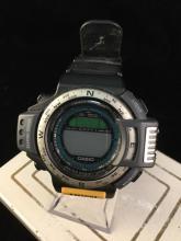 a Casio triple sensor, water resistant digital watch, like new, needs battery