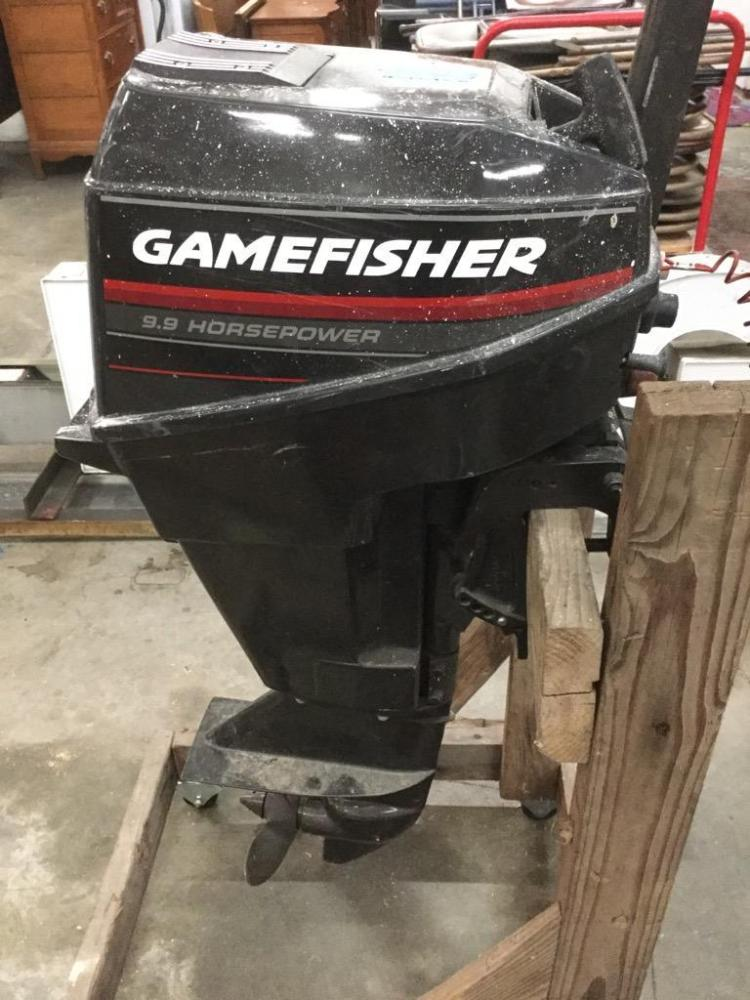 A gamefisher 9 9 hp gas boat motor for 9 9 hp outboard motors