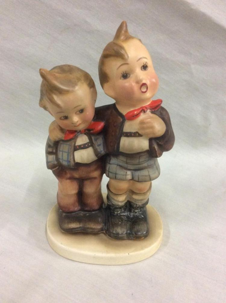 Hummel tmk figurines bavarian boys singing brothers h
