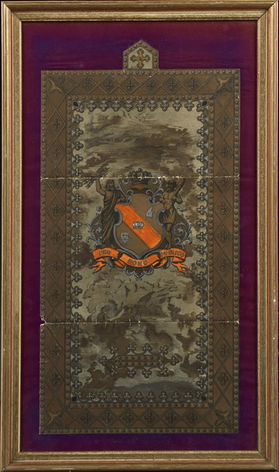 Mardi Gras, a Rex ball invitation envelope, February 18th, 1890, designed by Bror Anders Wikstrom (American/New Orleans, 1854-1909),...