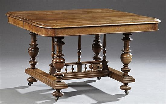 henri ii style carved walnut dining table late 19th c the. Black Bedroom Furniture Sets. Home Design Ideas