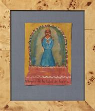 †Mexican Retablo, 20th c., to the