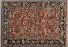 Laristan Sultanabad Carpet, 5' 1 x 7'