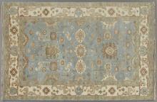 Turkish Angora Oushak Carpet, 6' x 8' 10