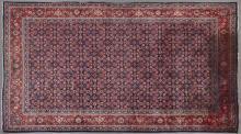 Persian Mahal Carpet, 9' 3 x 6' 6 Provenance: Mount Hope Plantation, Copiah County, MS.
